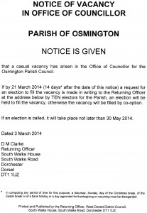 Casual Vacancy Notice - Feb14
